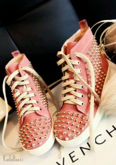 Givenchy studded sneakers @Rauiesha Lewis I bet you could do something like this!