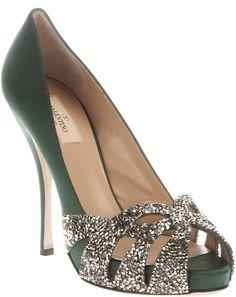 Valentino ~ Peep Toe Silk Pump. It's just so pretty.