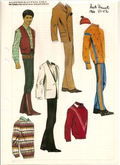 Swedish paper doll of Paul Anka, 1966