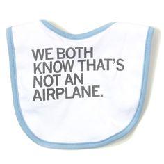 Airplane Bib - I freaking love this.
