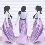 purple maxi skirt hijab look,