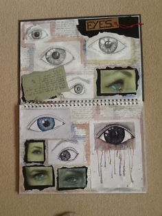 First Art Sketchbook Page - Studies of Eyes