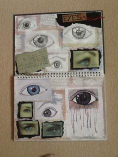 First Art Sketchbook Page - Studies of Eyes