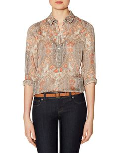 Floral Print Layering Shirt from THELIMITED.com