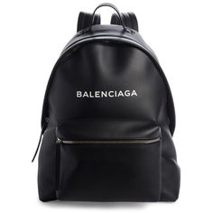 Women's Balenciaga Everyday Calfskin Backpack (535 KWD) ❤ liked on Polyvore featuring bags, backpacks, backpack, daypack bag, rucksack bag, balenciaga, day pack backpack and balenciaga backpack