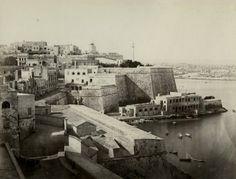Marsamscetto, Valletta Malta, another pre 1864 photo