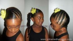 87 Cornrow Hairstyles for Black Women Ideas in 2019 - Street Style Inspiration Lil Girl Hairstyles, Natural Hairstyles For Kids, Princess Hairstyles, Trendy Hairstyles, Natural Hair Styles, Short Hair Styles, Kids Hairstyle, Drawing Hairstyles, Teenage Hairstyles