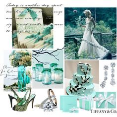 """""""Tiffany Blue Wedding"""" by cotton-tail on Polyvore"""