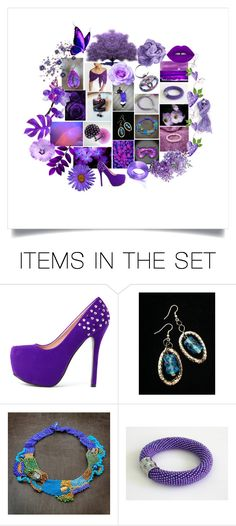 """""""Purple Bliss"""" by crystalglowdesign ❤ liked on Polyvore featuring art and vintage"""