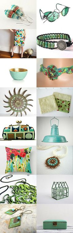 Treasury time ! Green and turquoise ! by bridesrules on Etsy -- https://www.etsy.com/treasury/MTAzODI5OTd8MjcyNjM0ODkwNA/green-and-turquoise