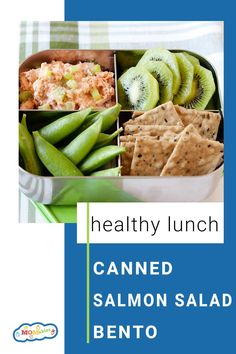 This canned salmon salad takes 3 minutes to make and it's a healthy lunch option that is super versatile. Seafood Recipes, Soup Recipes, Dinner Recipes, Healthy Recipes, Kids Meals, Family Meals, Easy Meals, Canned Salmon Salad, Easy Lunch Boxes