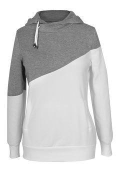 Cupshe High Contrast Hooded Sweatshirt