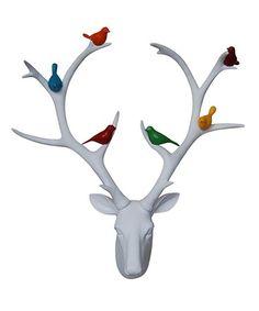 Sagebrook Home White Deer Head & Birds Wall Sculpture | zulily