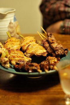 Japanese food -yakitori- (Skewered Chicken)