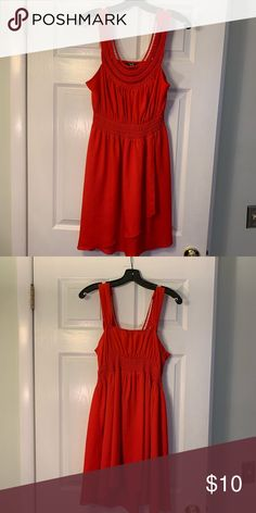 fca83fbb40e5 Red orange sleeveless dress This dress was only worn once in vacation. Free  flowing and light weight. Dresses
