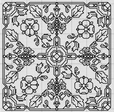 Embroidery from: Gallery. Biscornu Cross Stitch, Blackwork Cross Stitch, Blackwork Embroidery, Cross Stitch Charts, Cross Stitch Designs, Cross Stitching, Cross Stitch Embroidery, Embroidery Patterns, Cross Stitch Patterns