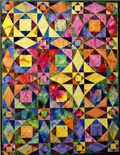 I LOVE this quilt... it has the illusion of curves but in reality they are all straight lines...