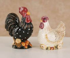 My grandfather had a soft spot for roosters. He had this collection in the rumpus room... I wonder where they are now?