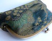 Kimono fabric clutch bag. Amazing!