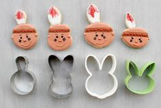 Indian (Bunny Cookie Cutter)