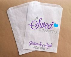 A Sweet Thank You Custom Candy Buffet Bags by prettypaperparlor, $25.00