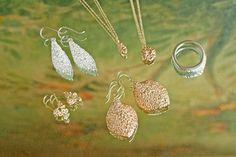 N+A New York hand hammered earrings