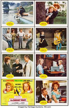 The Parent Trap (Buena Vista, Lobby Card Set of 8 X Comedy. Starring Hayley Mills, - Available at Sunday Internet Movie Poster. Parent Trap, Maureen O'hara, Internet Movies, Alook, Print Wallpaper, Sign Printing, Comedy, Parenting, Wall Decor