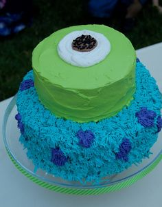 Monsters cake!  We Heart Parties: Party Information - monsters inc party