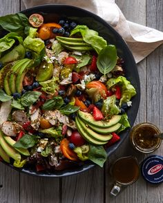 Pesto Farmers Market Salad with Grilled Chicken from www.whatsgabycook... (What\'s Gaby Cooking)