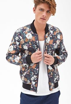 Floral Bomber Jacket | 21 MEN - 2000057785