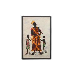NOVICA Cultural Batik Wall Art of a Mother and Children from Ghana (4,920 MKD) ❤ liked on Polyvore featuring home, home decor, wall art, wall decor, colorful wall art, batik wall art, african home decor, novica home decor and novica