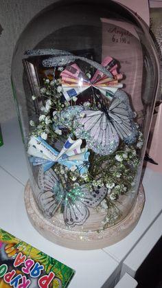 Geldgeschenk... Snow Globes, Table Decorations, Handmade Gifts, Paper, Simple, Crafts, Home Decor, Blog, Weddings