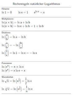 Mathe ist einfach: Rechenregeln ln