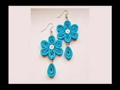 Quilling paper Earrings Making with Comb   earrings making designs - ear...