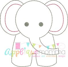 48 Ideas For Embroidery Patterns Tree Baby Applique Templates Elephant Quilt, Elephant Applique, Baby Applique, Elephant Pattern, Applique Quilts, Baby Elephant, Vintage Elephant, Elephant Outline, Embroidery Designs