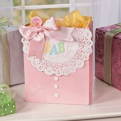 Make it a small gift enclosure or a full sized card that is attached to front of a gift bag