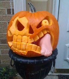 Pumpkin Eating Foot