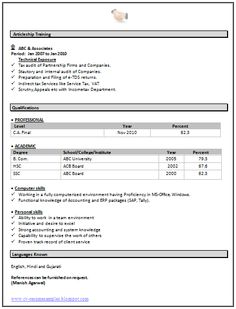 Sample Template Of An Excellent B Tech Ece Electronics And