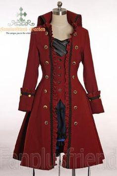 Pirate Lolita\ Gothic Prince\ Ouji High Collar Unisex Coat