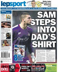 Sam steps into dad's shirt - 13/0/15