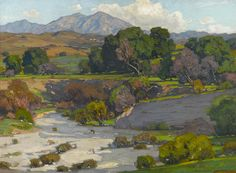 William Wendt (American, 1865-1946) Saddleback Mountains, Mission Viejo 30 x 40in overall: 39 x 49in (Painted in 1923)