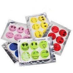 Hot 60pcs Smiley Insect Mosquito Repellent Stickers Patches Citronella Oil New