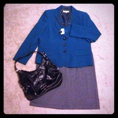 I just discovered this while shopping on Poshmark: Teal blazer NWT!. Check it out! Price: $30 Size: 16P