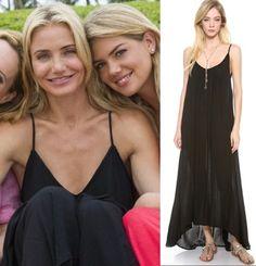 cameron diaz other woman movie black maxi dress cover up bahamas