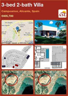 3-bed 2-bath Villa in Campoamor, Alicante, Spain ►€405,700 #PropertyForSaleInSpain