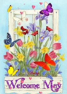 Welcome May animated gif Seasons Months, Months In A Year, Four Seasons, Happy New Month Quotes, New Month Wishes, Spring Is Here, Spring Time, Spring Months, May Quotes