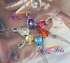 Arco Iris Eternal Love Teardrop Swarovski Elements Crystal Pendant Necklace For Women W 18k White Gold Plated Chain December Birthstone - Blue Topaz from Swarovski Elements at the Jewelry