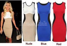 Women's Bodycon Stitching Color Mini Slim Sleeveless Dress