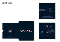 Chanel blue invite