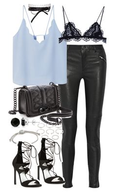 """Outfit for a party in autumn"" by ferned on Polyvore featuring BLK DNM, MANGO, Isabel Marant, Fallon, Allurez, Rebecca Minkoff, Forever 21, Stuart Weitzman and John Hardy"